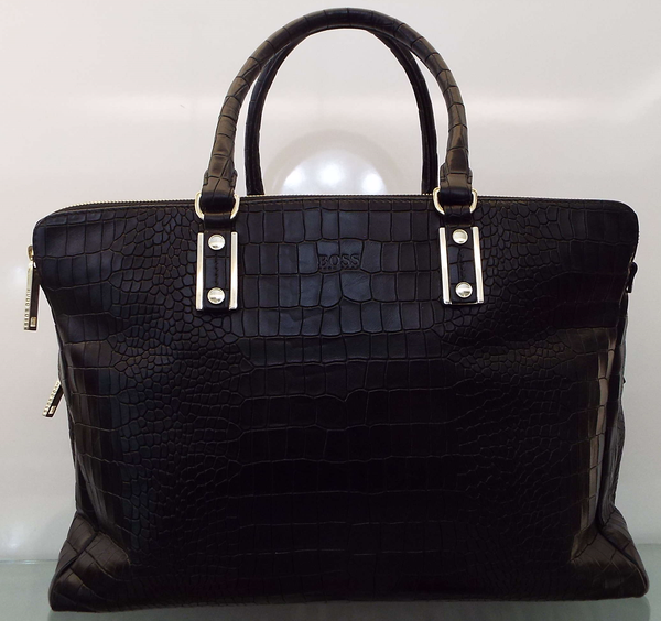 CROC PRINT LEATHER BAG