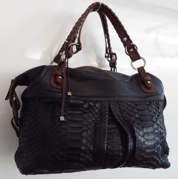 PYTHON & LEATHER BAG