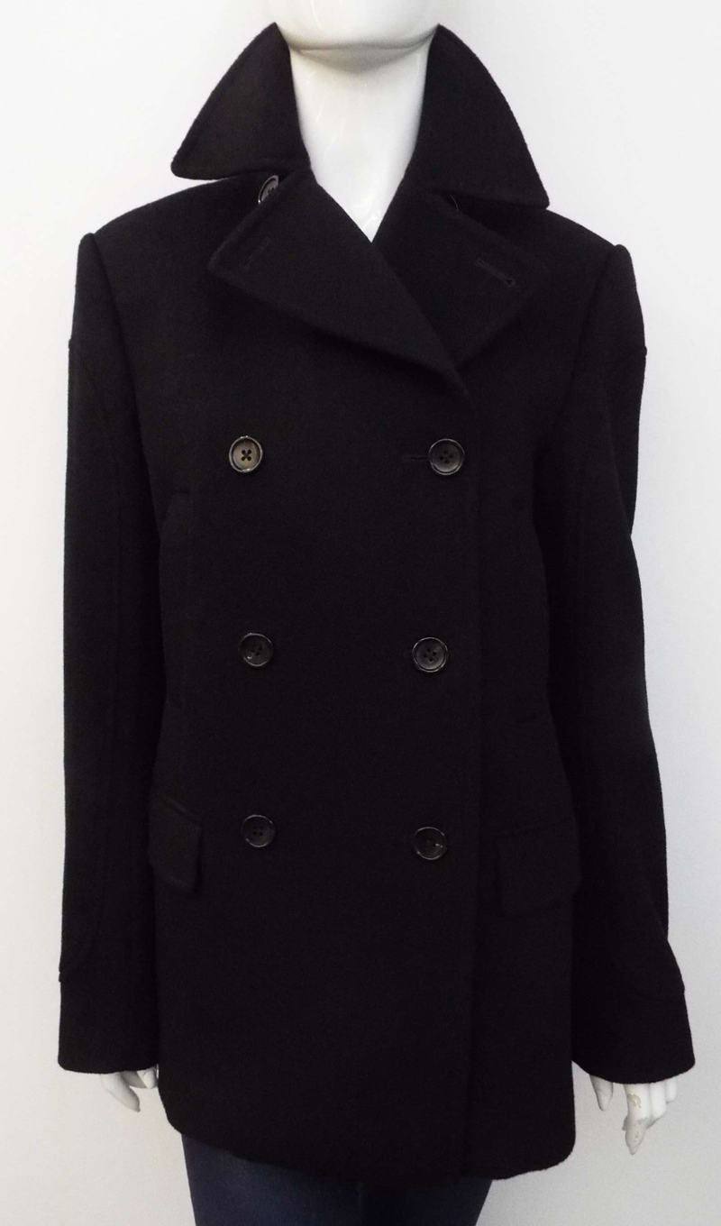 BLACK WOOL & CASHMERE COAT