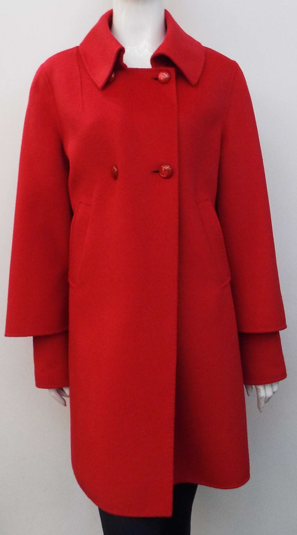 RED ANGORA/WOOL COAT