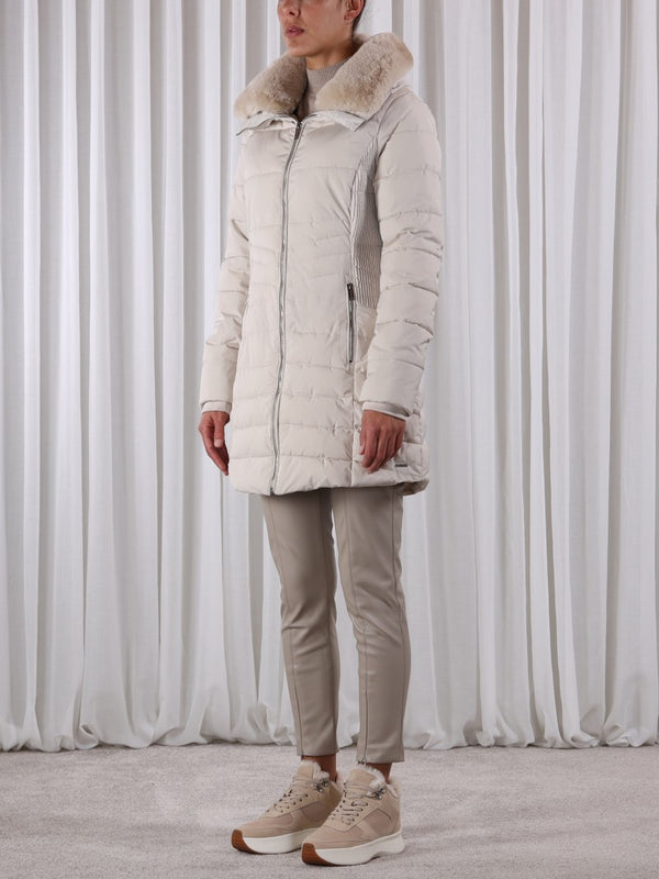 GOLDA PADDED COAT IN SAND