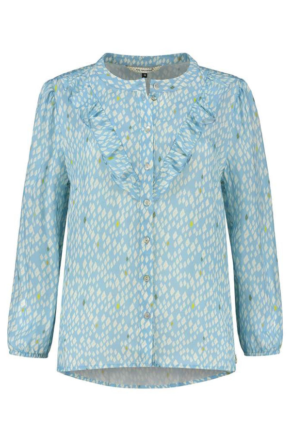 SNAKES BLUE BLOUSE