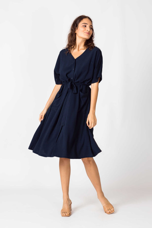 NAHIKARI NAVY DRESS