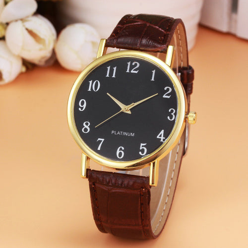 New Women's Watch Retro Design Leather Band