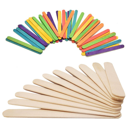 Wooden Popsicle Sticks Kids Hand Crafts Art Ice Cream