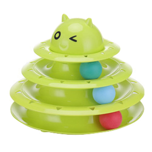 Funny Pet Toy Cat Interactive Game Disc Toys