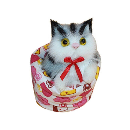 Plush Simulation Cat in the Cup Dolls Baby Toys
