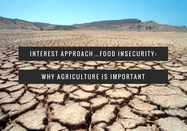Interest Approach: Food Insecurity and Why We Teach Agriculture