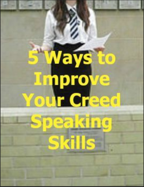 5 Ways to Improve Your Creed Speaking