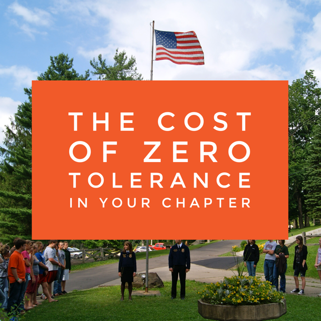 The Cost of Zero Tolerance In Your Chapter