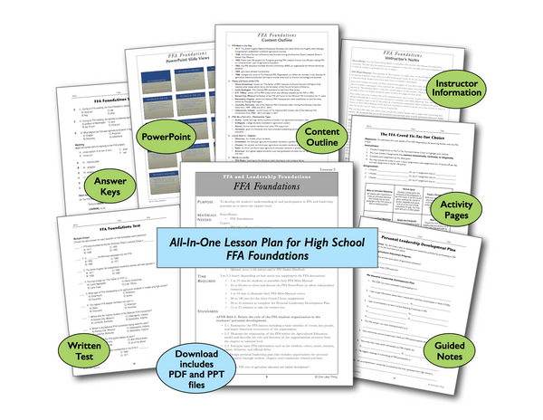 FFA Foundations High School, All-In-One Lesson Plan Download