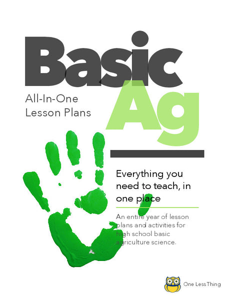 *Basic Ag High School, All-In-One Lesson Plans