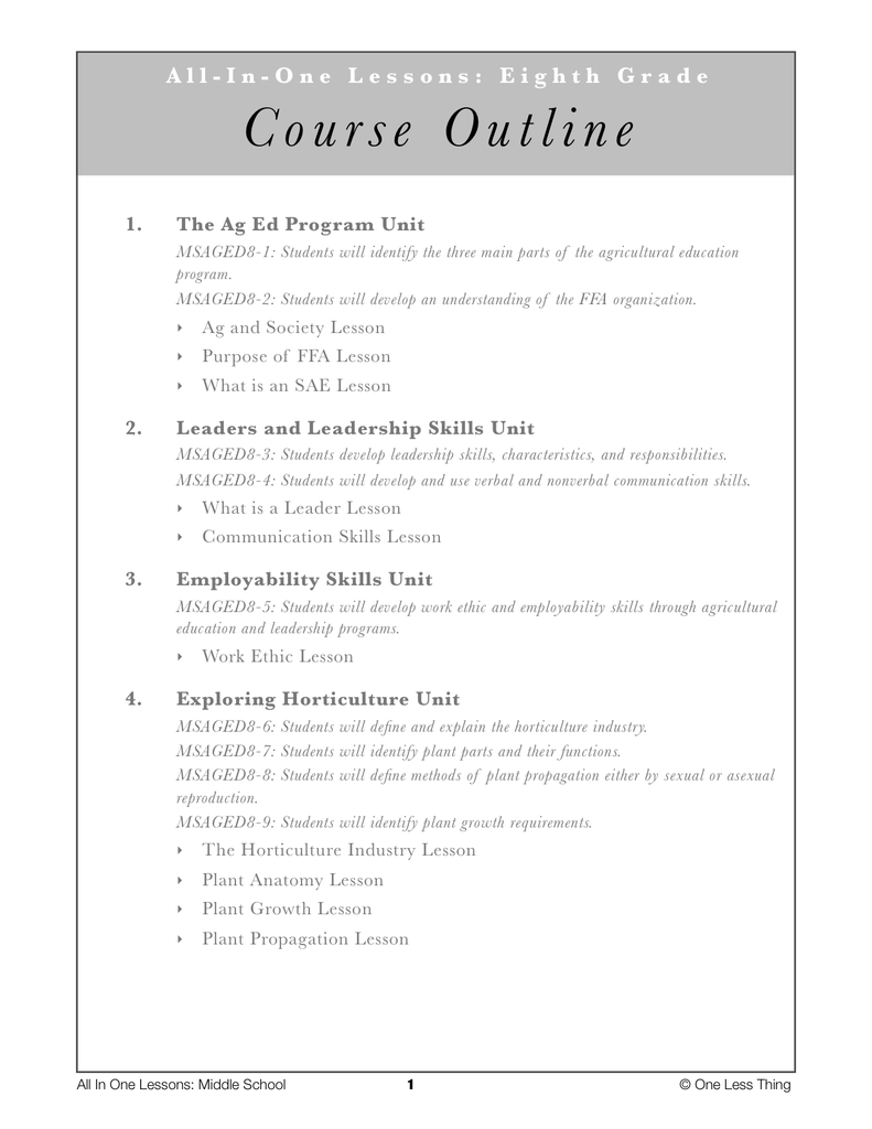 *Middle School Package, All-In-One Lesson Plans (download only)