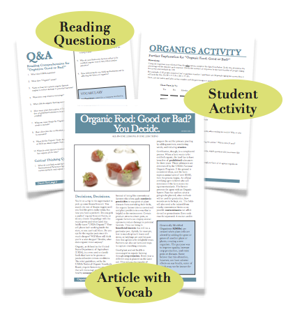 Organics, Substitute Lesson Plan Download