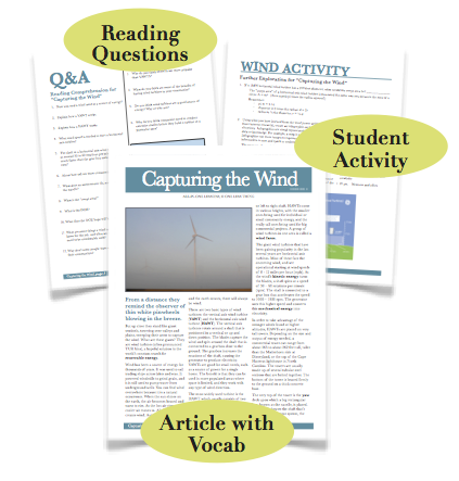 Wind Farming, Substitute Lesson Plan Download