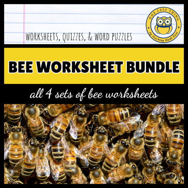 HoneyBee Worksheets Set, AgTivities