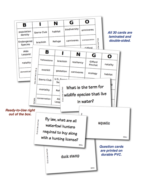 Introduction to Wildlife, Bingo