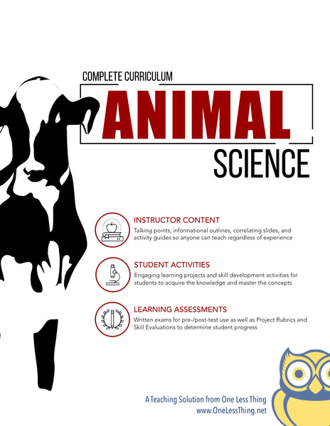 Animal Science, Complete Curriculum (Download Only)