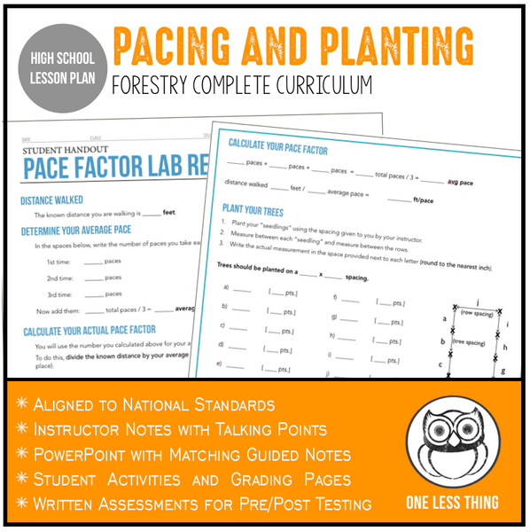 CCFOR05.4 Pacing and Planting, Forestry Complete Curriculum