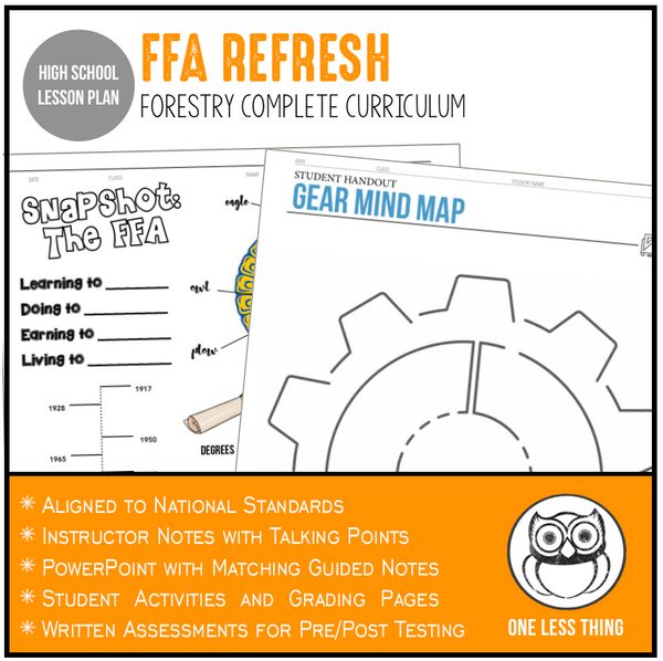 CCFOR1.1 FFA Refresh, Forestry Complete Curriculum