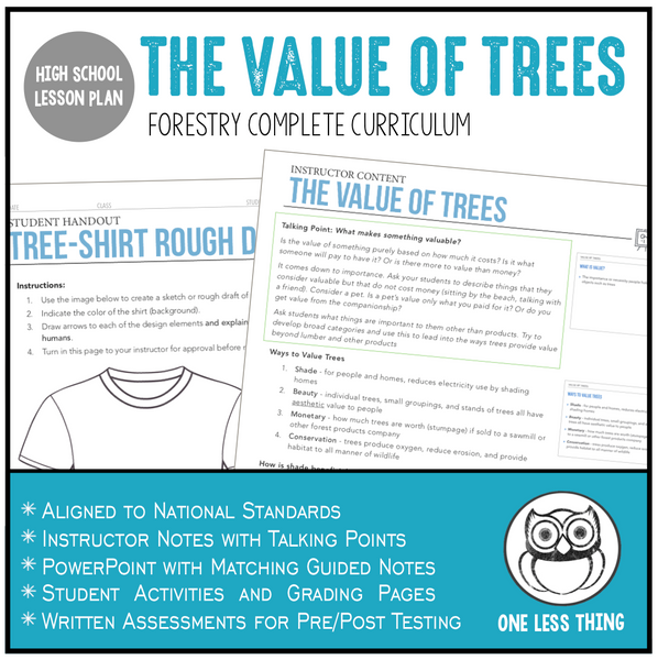 1.3 Value of Trees, Forestry Complete Curriculum