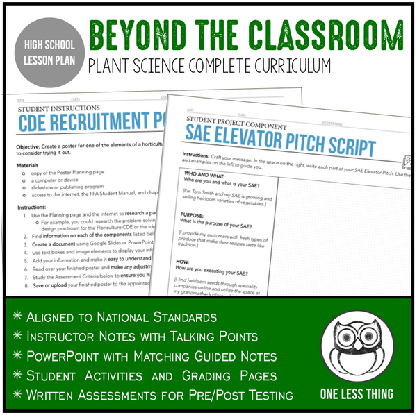 CCPLT1.2 Beyond the Classroom, Plant Science Complete Curriculum