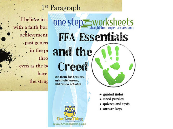 FFA & Creed One Step Worksheets and PowerPoints, Download