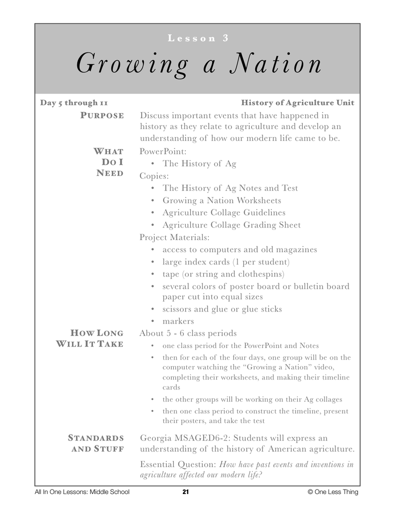 6-03 Growing a Nation, Lesson Plan Download