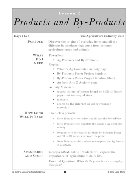 7-02 Products and By-Products, Lesson Plan Download