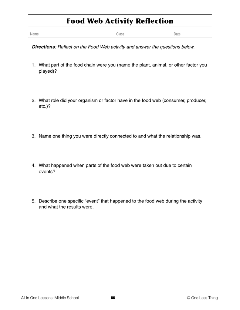 708 Intro to Natural Resources Lesson Plan Download One Less Thing – Natural Resources Worksheets