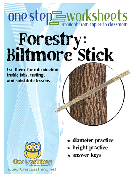 Biltmore Stick, One Step Worksheet Downloads