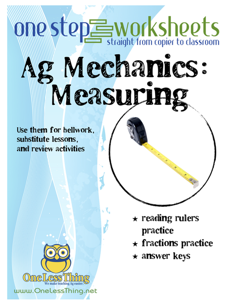 Measuring, One Step Worksheet Downloads