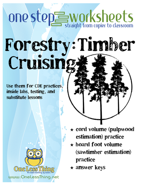Timber Cruising, One Step Worksheet Downloads