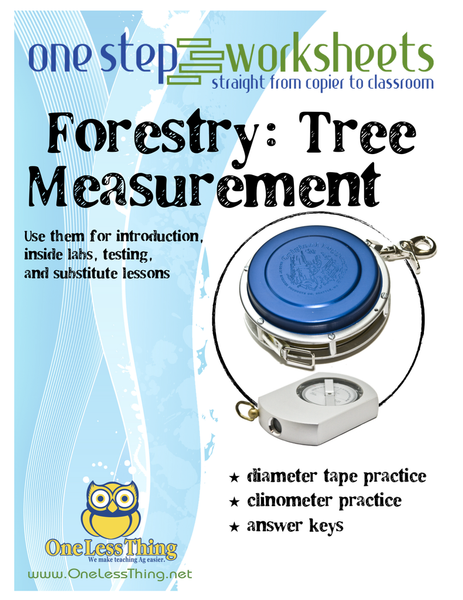 Tree Measurement, One Step Worksheet Downloads