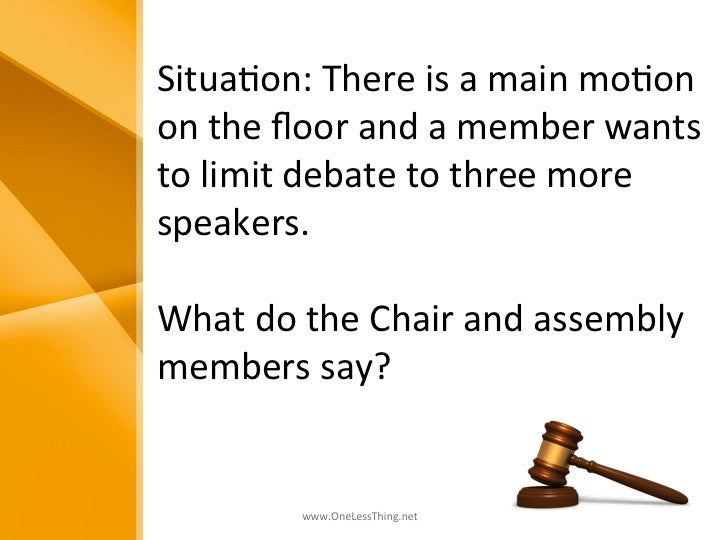 Parliamentary Procedure, PowerPoints