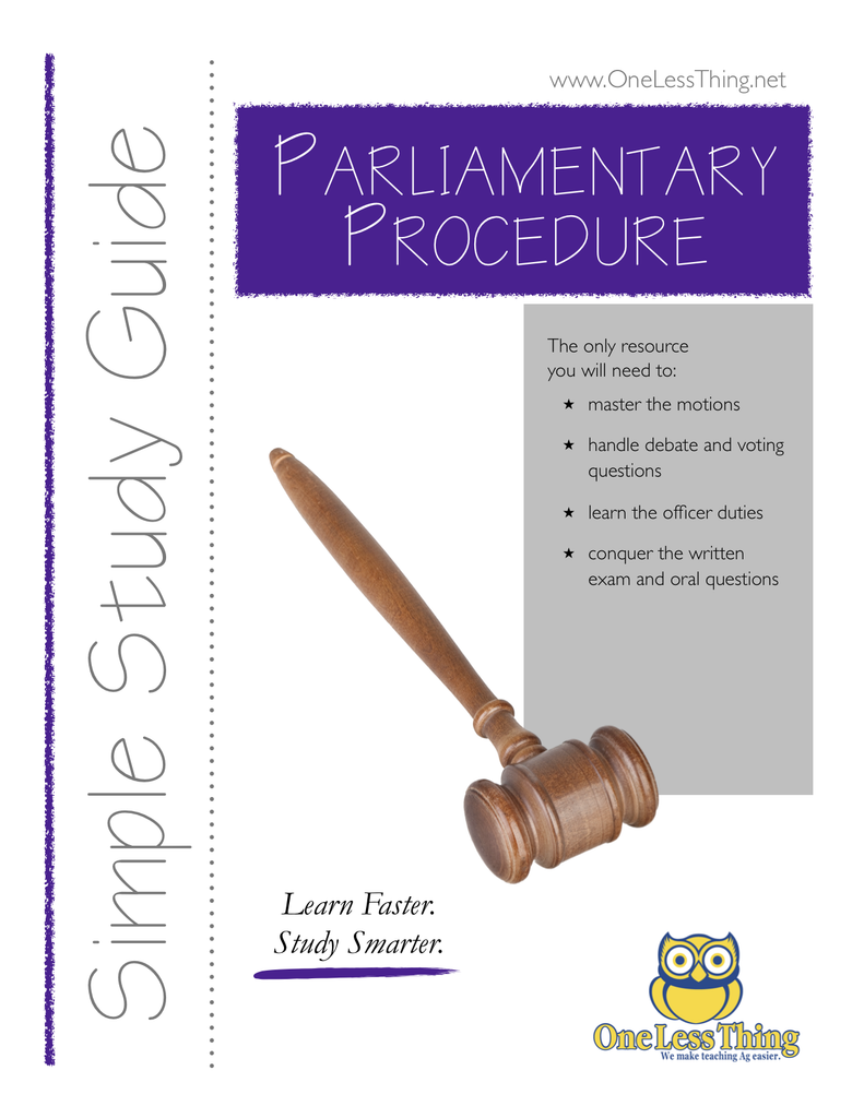 Parli Pro Simple Study Guide