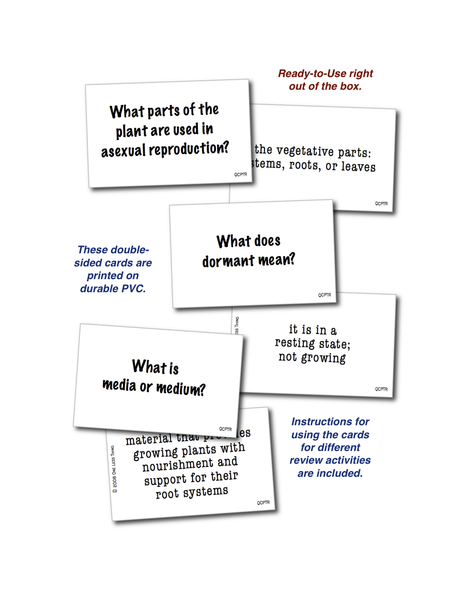 Plant Reproduction, Quick Cards