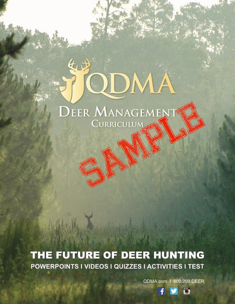 SAMPLE -- QDMA Deer Management Curriculum, Downloads