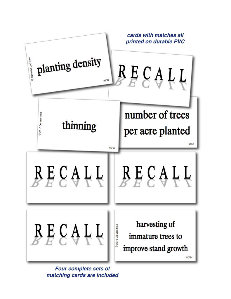 Forest Silviculture, Recall