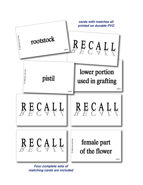 Plant Reproduction, Recall