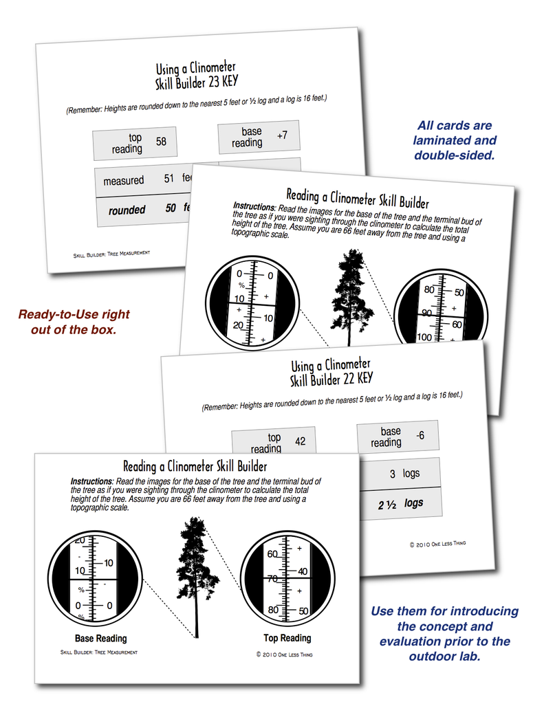 Tree Measurement, Skill Builder Cards