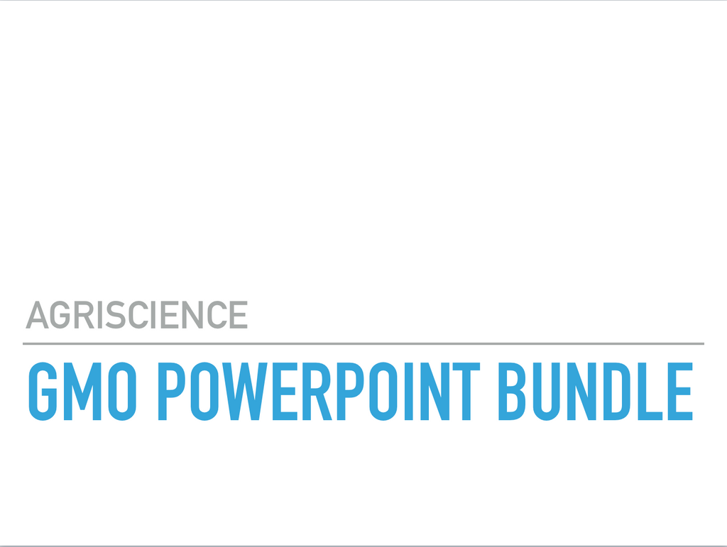 GMO Worksheet and PowerPoint Bundle, Downloads