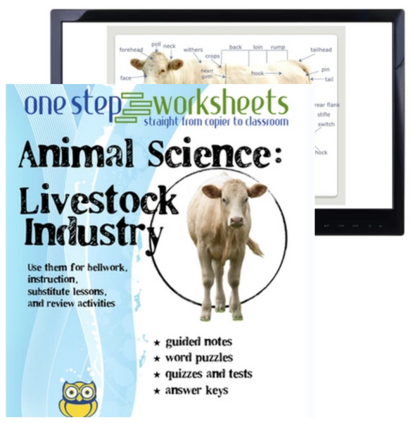 Livestock Industry Package, PowerPoint & Worksheet Downloads