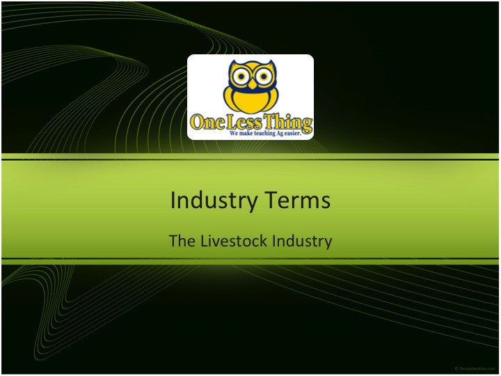 livestock industry powerpoint downloads one less thing
