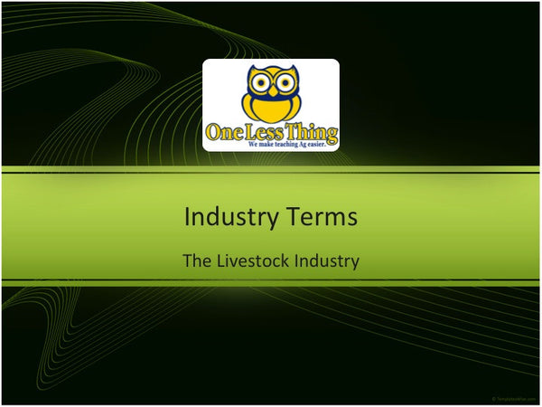 Livestock Industry, PowerPoint Downloads