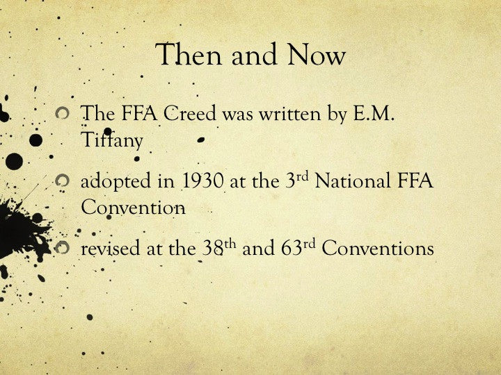 FFA Basics and the Creed, PowerPoint Downloads