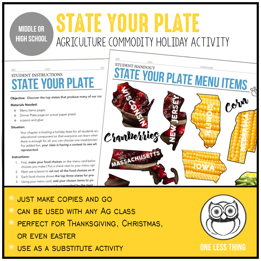 State Your Plate Holiday Meal Commodities