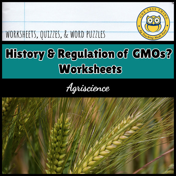 GMO's Worksheet Set, AgTivities download