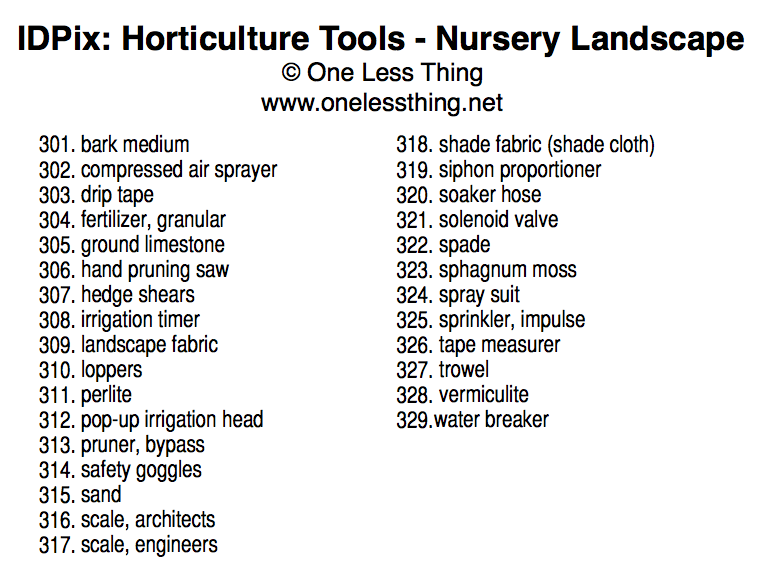 Horticulture Tool ID, PowerPoint Downloads