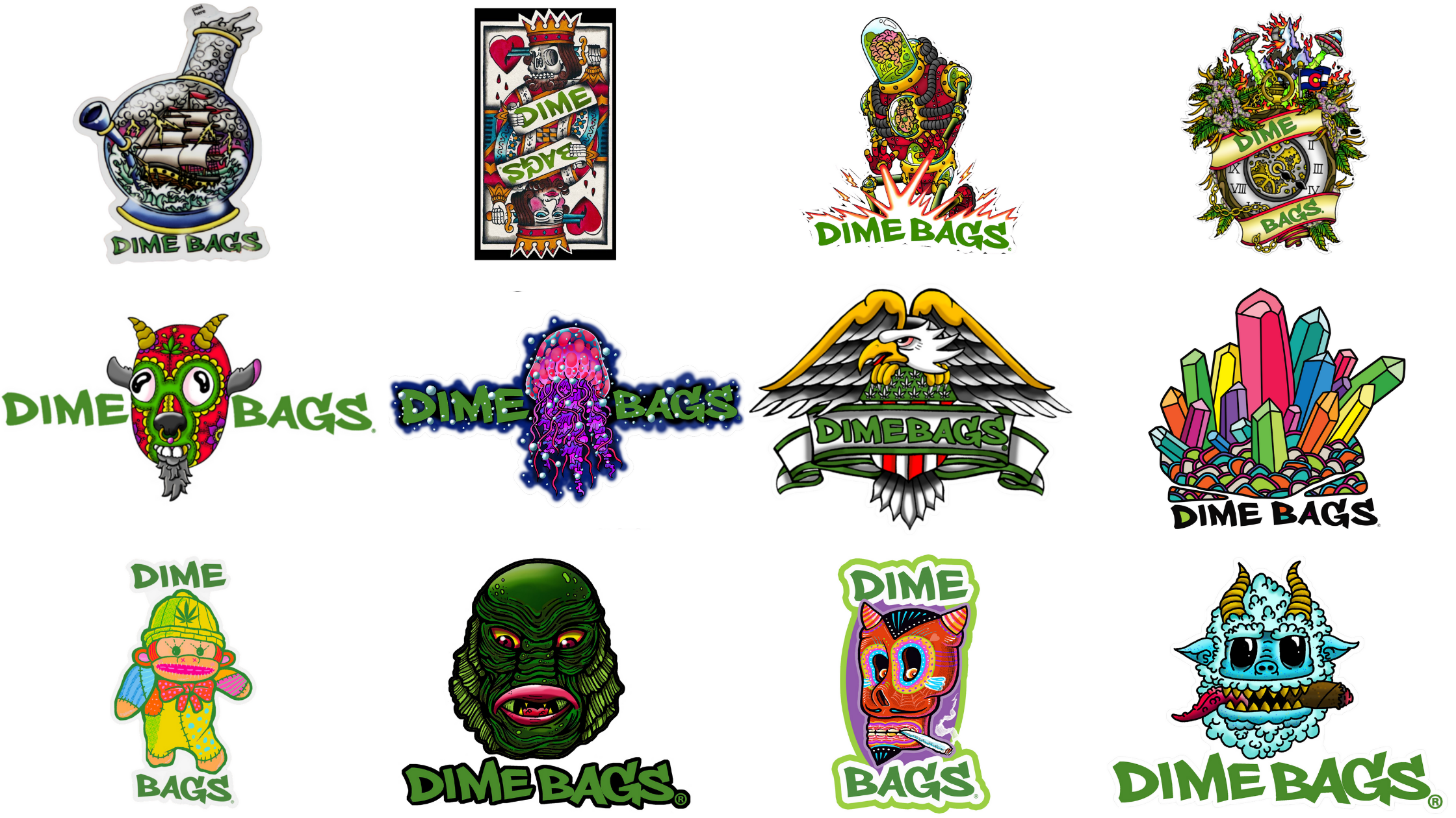 Dime Bags 2020 Sticker of The Month